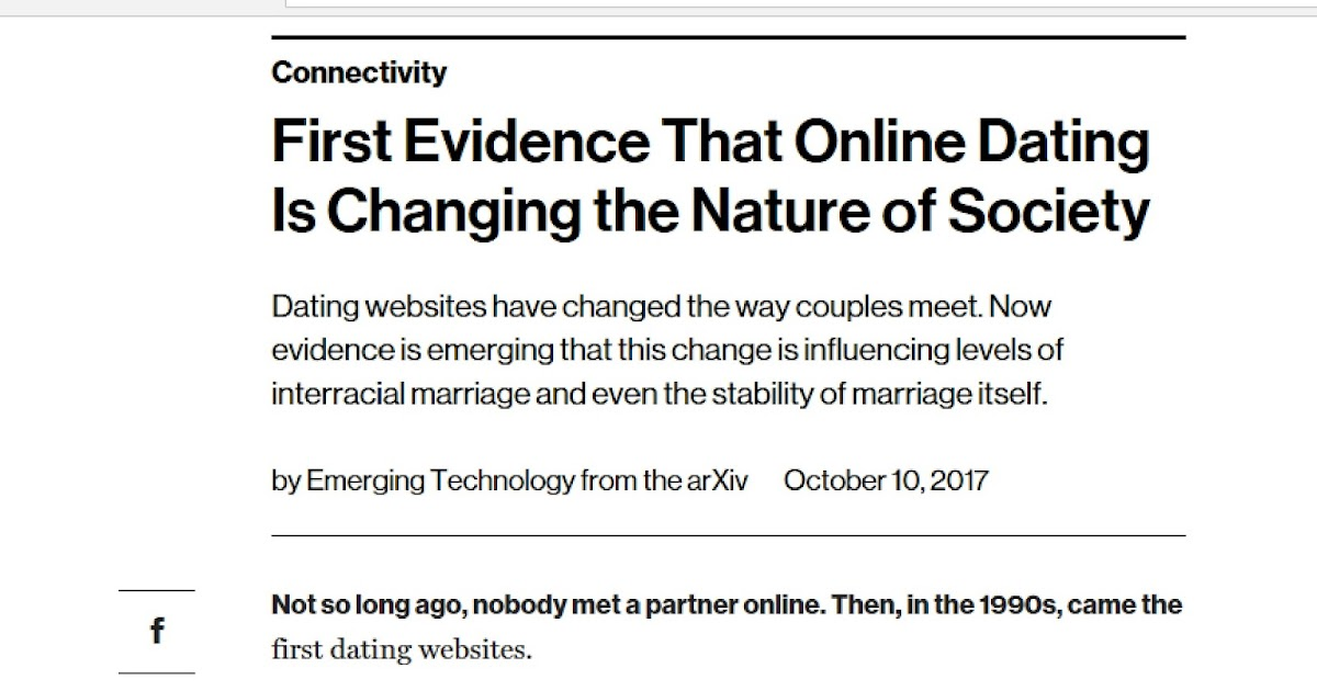 How online dating has changed society