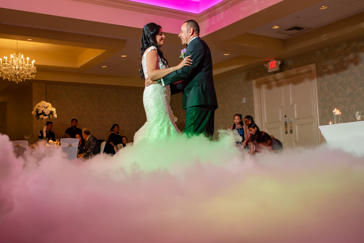 Couple enjoying their first dance together,so happy to complete their vow of love for each other.
