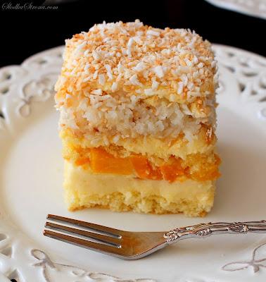 Ciasto Brzoskwiniowo-Kokosowe - Przepis - Słodka Strona