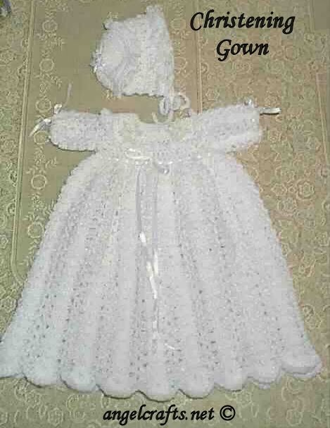 Free Crochet Patterns for Christening Gowns and ...