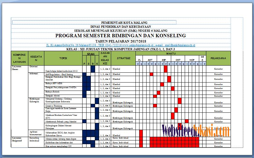 Program Semester Bk Kelas Xii Smk Kurikulum 2013 Revisi 2017 Websiteedukasi Com