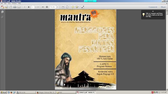 Majalah Mantra (Majalah sastra program bahasa)