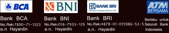Nomor Rekening Bank Hayardin Blog