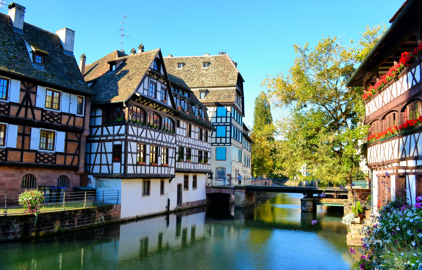 Visit 'Le Petite France' in Strasbourg when you hop on board Route 15. Photo: © EuroTravelogue.com. Unauthorized use is prohibited.