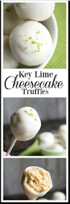 Key Lime Cheesecake Truffles
