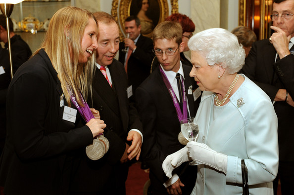 Queen Elizabeth and Catherine, Duchess of Cambridge attended the reception held for Team GB Olympic