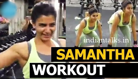 Samantha lifting 100kgs Dead Weight During Workout At GYM