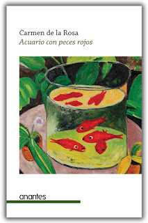 Acuario con peces rojos