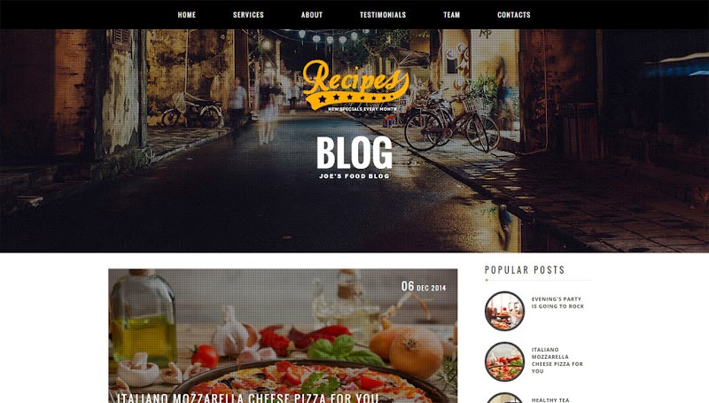 Recipes blogger template blogger templates gallery blogger themes forumfinder Choice Image