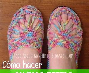 Cómo hacer calzado tejido al crochet paso a paso DIY