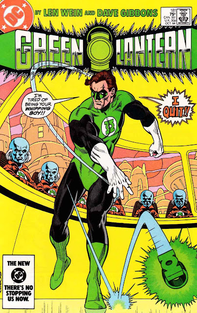Green Lantern v2 #181 dc comic book cover art by Dave Gibbons