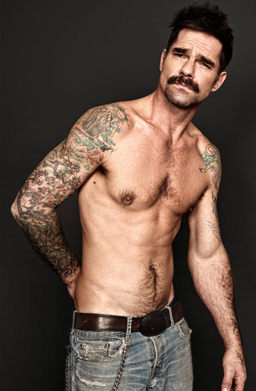 Badass and Sexy Mustaches Devilish Handsome Muscular Men