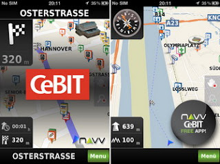 NAVV Free CeBIT iPhone App (DACH map) available for download