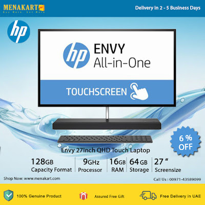 HP Envy 27Inch QHD Touch Laptop 1AX12EA - Intel Core i7 7700T 2.9Ghz, 16GB, 1TB+ 128GB, M.2SSD, 4GB GTX 950M, Windows 10 Home