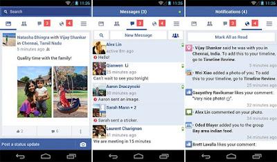 Tampilan Aplikasi FB Lite Mod