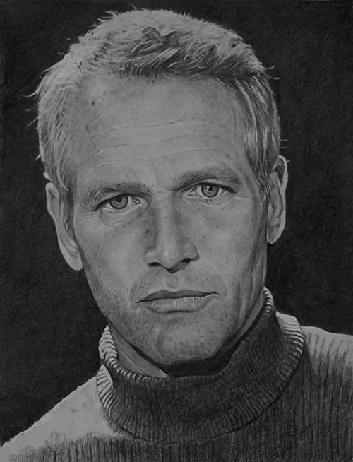 14-Paul-Newman-ekota21-Very-Detailed-Celebrity-Portrait-Drawings-www-designstack-co