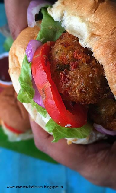 Schezwan Manchurian Burger