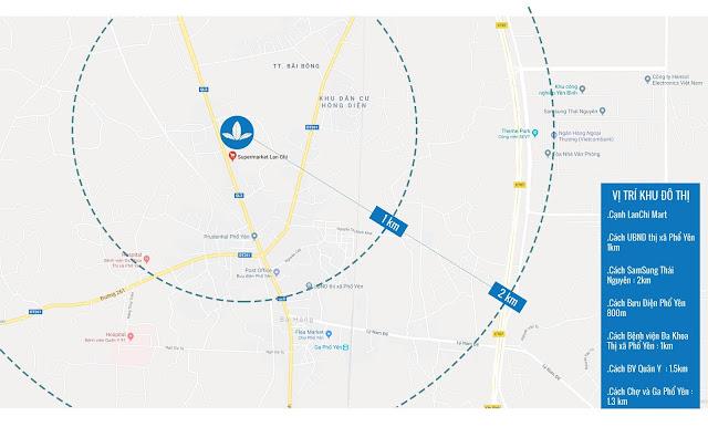Dự án khu dân cư Vinaconex 3 – Phổ Yên Residence sở hữu vị trí đắc địa