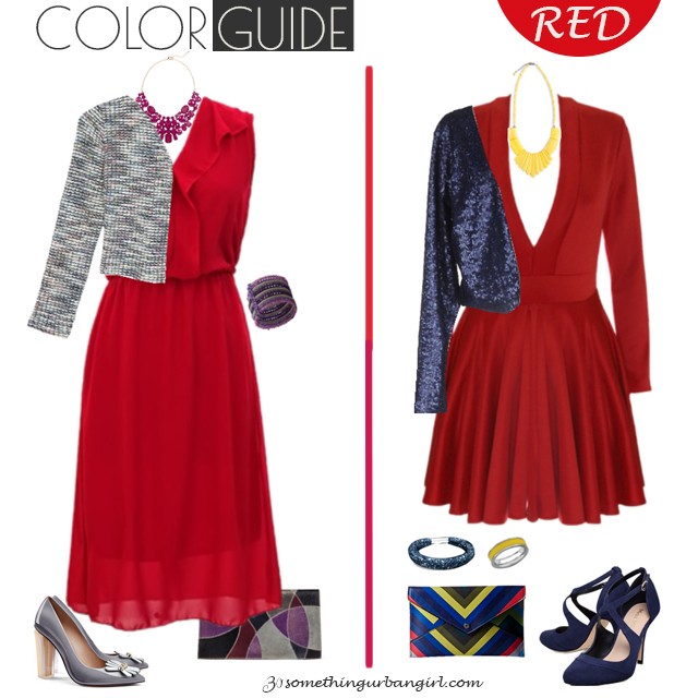 Chic red dresses for Deep Winter seasonal color women by 30somethingurbangirl.com