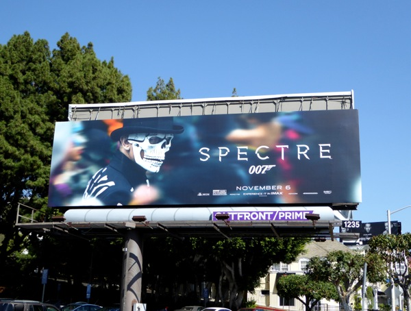 Spectre movie billboard