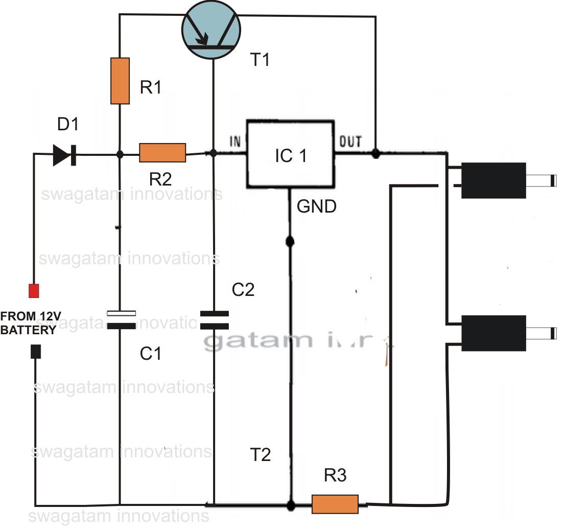 12v charger wiring diagram [ 1106 x 1039 Pixel ]