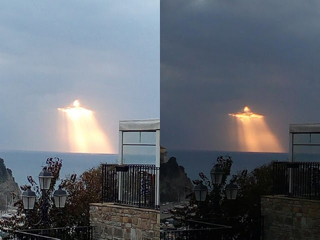 Rare Sky Phenomena Seen From Around The World  Light%2BFigure%2BItaly