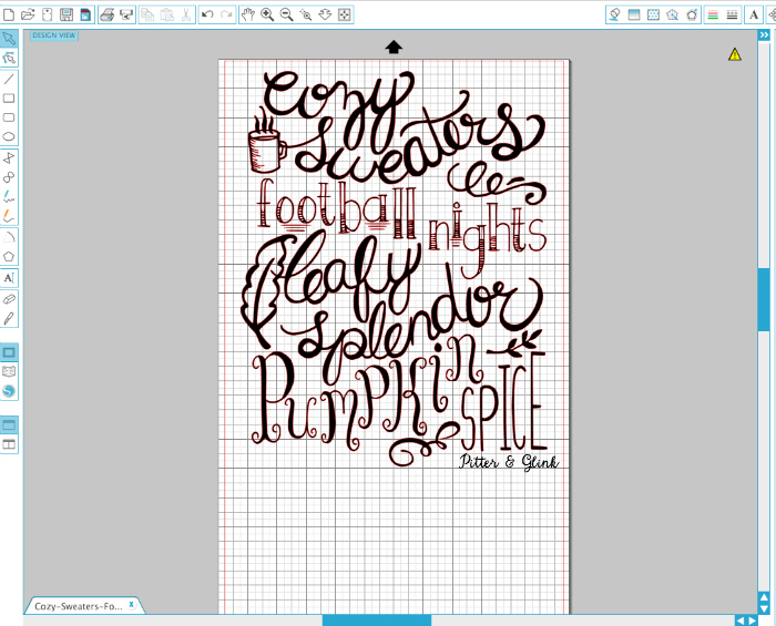 Free Hand Lettered Fall Poem Silhouette Cut File