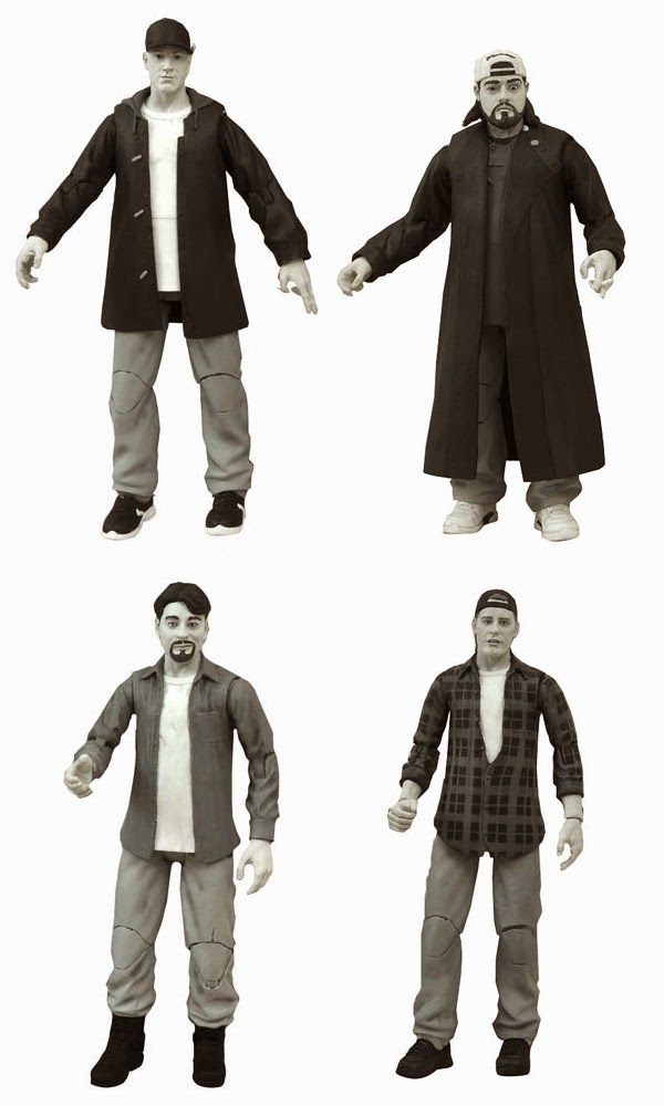 Clerks 20th Anniversary Diamond Select Action Figures Series 1 – Jay, Silent Bob, Dante Hicks & Randal Graves