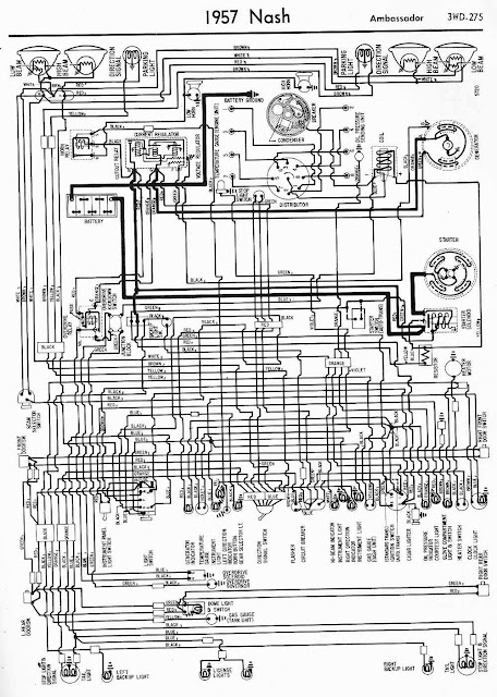 Wiring Diagram For Car  Wiring Diagram Of 1957 Nash Ambassador