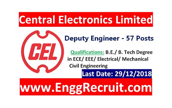 CEL Recruitment 2018
