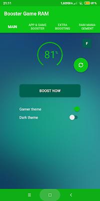 imagens do aplicativo booster game ram