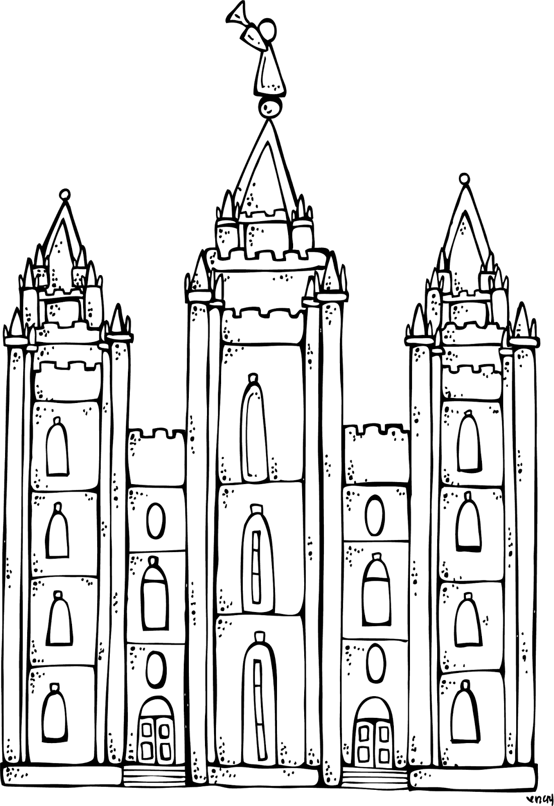 Melonheadz LDS illustrating: I Love to see the temple