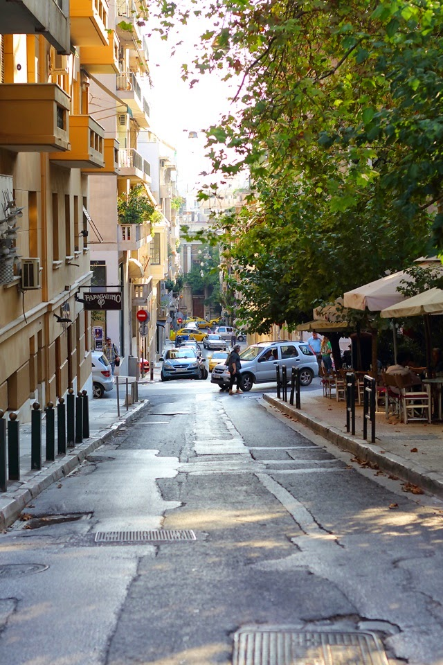 the famous kolonaki area athens greece