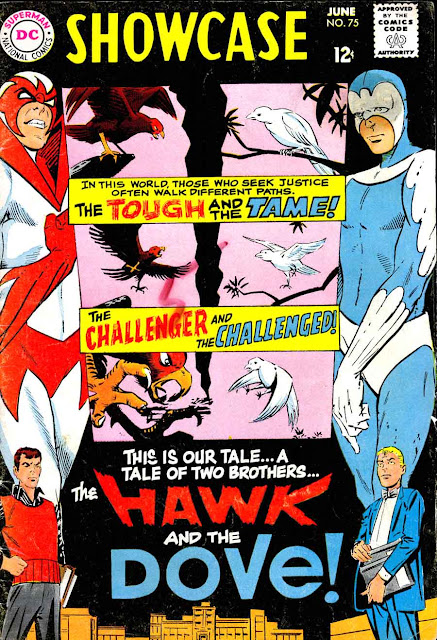 Showcase v1 #75 Hawk and the Dove dc comic book cover art by Steve Ditko