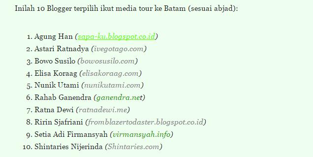 Blogger Terpilih