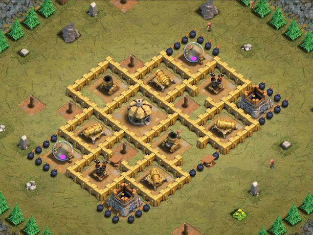 Goblin Base Clash of Clans Bait 'n Switch