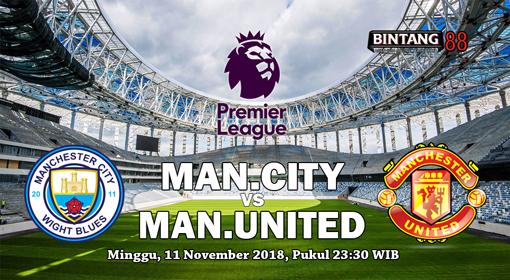 Prediksi Manchester City vs Manchester United 11 november 2018