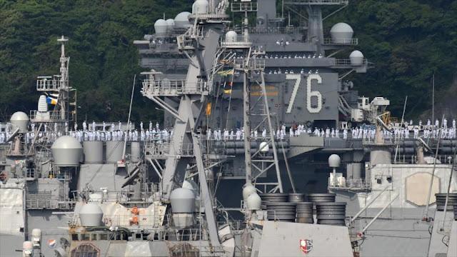 Portaaviones de EEUU no puede abandonar Japón por un fallo