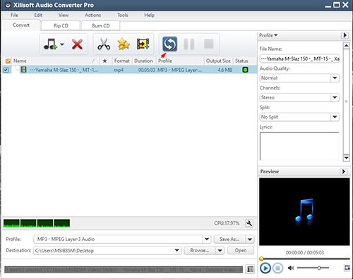 Cara Mengubah File Video Menjadi File MP3 Dengan Xilisof Audio Conventer 3