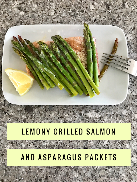 Our Good Life: Lemony Salmon and Asparagus Foil Packets #SundaySupper