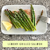 Lemony Salmon and Asparagus Foil Packets  #SundaySupper