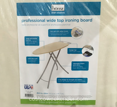 Costco 1061531 - Homz Professional Wide Top Ironing Board features iron rest for more safety