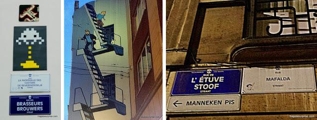 Homenagens às histórias em quadrinhos em Bruxelas