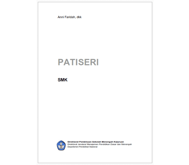 Buku SMK Seni dan Pariwisata Patiseri