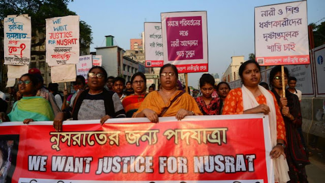 Nusrat Jahan Rafi Burnt Alive for Protest against Sexual Assault