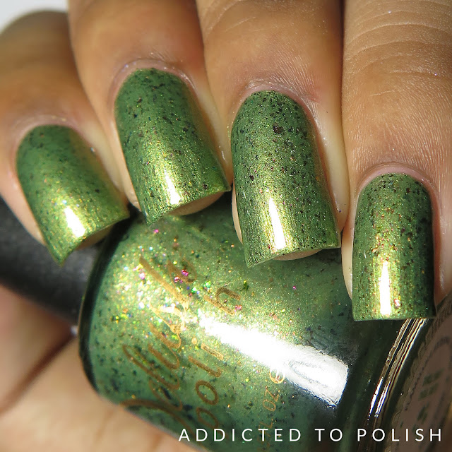 Delush Polish Olive You Long Time Hih and Mightea Swatches and review