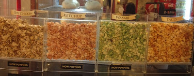 Different popcorn flavors