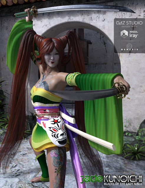 Jade Tiger Kunoichi Weapons and Props
