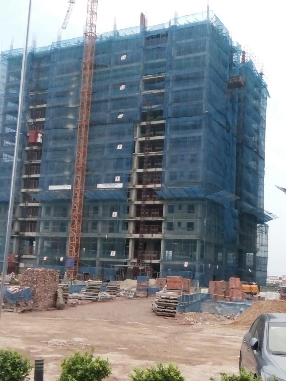 Tiến độ thi công thực tế tòa CT1B đã xây dựng tới sàn tầng 16