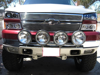 number plate light bar